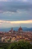 Florenz auf einem Sonnenuntergang, Italien Stockfoto