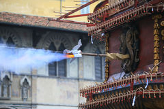 Florenz, der Ausbruch des Warenkorbes auf Ostern Stockfotografie