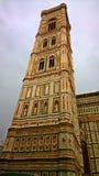 Florenz Der Turm der Kathedrale von Santa Maria del Fiore Lizenzfreies Stockfoto
