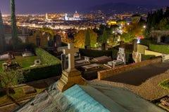 Florenz Duomo nachts Stockfotografie