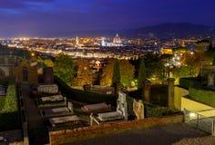 Florenz Duomo nachts Lizenzfreies Stockfoto
