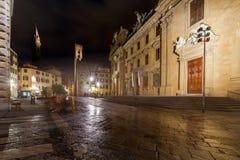 Florenz Gemütliche Häuser unter dem romantischen Meer der Sterne Stockfoto