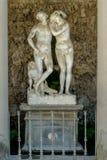 Florenz, Italien - 23. April 2018: Annalena Grotto, Statue von Adam und von Eve Stockbild