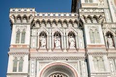Florenz, Italien - 22. April 2018: Fassade von Cattedrale-Di Santa Maria del Fiore Cathedral der Heiliger Maria der Blume Lizenzfreie Stockfotografie