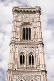 Florenz, Italien - 24. April 2018: Glockenturm von Cattedrale-Di Santa Maria del Fiore Lizenzfreie Stockfotografie