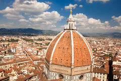 Florenz, Italien, Florenz, Italien, Florence Cathedral, Brunnaleski-Haube, Haube Stadtbildfranc Brunnaleski, Stadtbild von Giotto Lizenzfreie Stockfotos