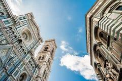 Florenz-Kathedrale und -Baptistery Stockbilder