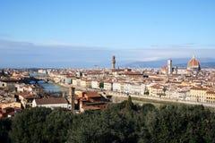 Florenz-Landschaft mit Fluss Arno, Toskana Stockbilder