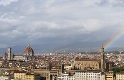 Florenz mit einem Regenbogen Lizenzfreies Stockfoto