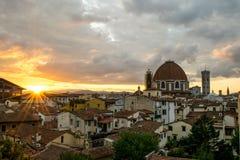 Florenz morgens Stockfotografie