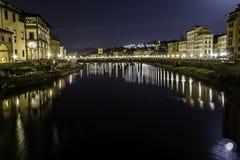Florenz-Nachtansicht Lizenzfreie Stockfotografie