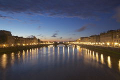Florenz nachts Stockbild