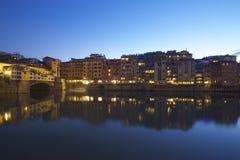 Florenz nachts Lizenzfreie Stockfotos