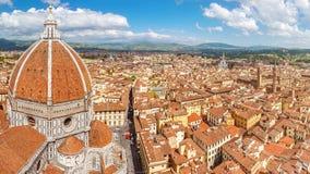 Florenz-panoram von der Kathedrale Santa Maria del Fiore, Italien Lizenzfreie Stockbilder