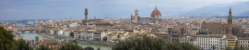 Florenz-Panorama Stockfoto