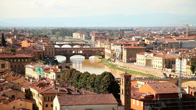Florenz Panorama der alten Stadt in Italien stock video footage