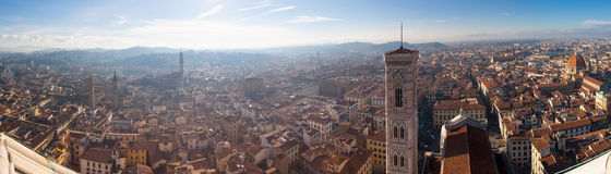 Florenz-Panorama vom Dach Stockfoto