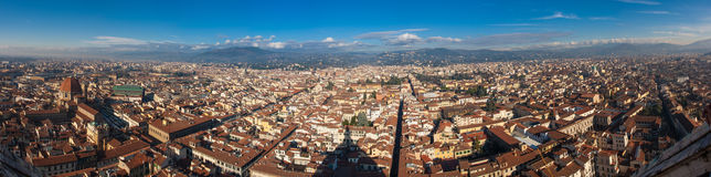 Florenz-Panorama vom Dach Stockbild