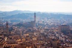 Florenz-Panorama vom Dach Stockfotografie