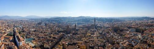 Florenz-panoramische Ansicht Stockfotos