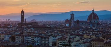 Florenz am Sonnenuntergang Stockbilder