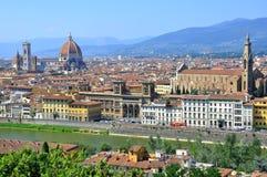 Florenz-Stadt gesehen von oben Lizenzfreies Stockbild