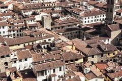 Florenz-Stadtbild, Dachszene, Toskana, Italien Stockfotografie