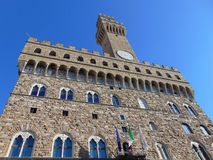 Florenz Toskana Italien Arnolfo-Turm in Palazzo Vecchio stockfotos