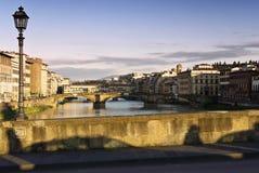 Florenz-und Arno-Fluss Stockfoto