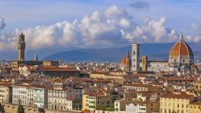 Florenz und Kathedrale Santa Maria del Fiore, Abend, Florenz, Italien Wolken, Zeitversehen stock video
