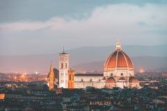 Florenz und Kathedrale Santa Maria del Fiore, Italien lizenzfreies stockbild