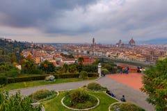 Florenz Vogelperspektive der Stadt Stockfotografie