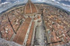 Florenz von oben Lizenzfreies Stockfoto