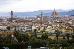 Florenz von Piazzale Michelangelo Stockfotografie