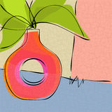 Florero abstracto de la vendimia Imágenes de archivo libres de regalías