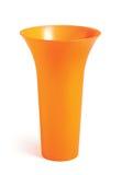 Florero anaranjado Fotografía de archivo libre de regalías
