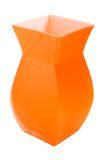 Florero anaranjado aislado en blanco Foto de archivo libre de regalías