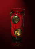 Florero asiático Imagen de archivo libre de regalías