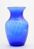 Florero azul Foto de archivo libre de regalías
