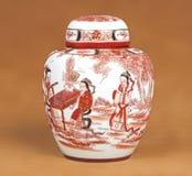 Florero chino Imágenes de archivo libres de regalías