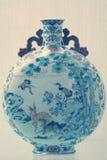 Florero chino de la porcelana foto de archivo