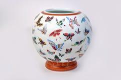 Florero chino de la porcelana imagen de archivo