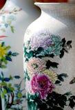 Florero chino de la porcelana Imagen de archivo libre de regalías