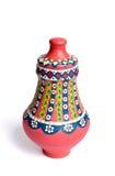 Florero colorido adornado hecho a mano egipcio rosado Kolla de la cerámica Fotos de archivo