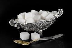 Florero con el azúcar Foto de archivo libre de regalías