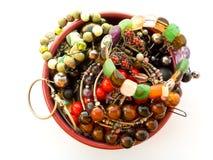 Florero con joyería Fotografía de archivo libre de regalías
