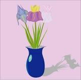 Florero con las flores Imagenes de archivo