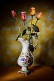 Florero con las flores secas Foto de archivo libre de regalías