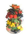 Florero con las frutas Imagen de archivo libre de regalías