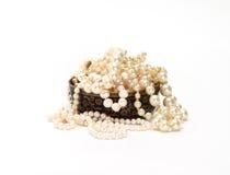 Florero con las gotas de la perla Fotos de archivo